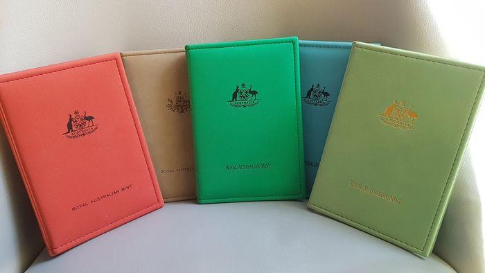 Australien. Proof Set from 1990 to 1994, 5 pieces