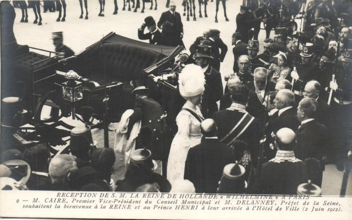 France - Royal visit - Visits from Wilhelmina, King Edward and Alfonse etc. - Lively cards - Postcards (Collection of 75) - 1900-1920