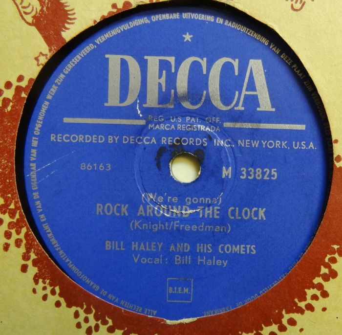 Bill Haley, Kay Starr, Fats Domino, Connie Francis, Earl Bostic, Slim Whitman and more. - 18x 78RPM-Records with Popmusic From the 1950's. - 78 tours/min - Gomme laque