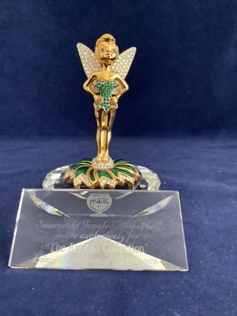 Arribas - Disney - Tinkerbell + Title Plaque - Limited Edition (10,000p) - Boxed - Cristal Swarovski