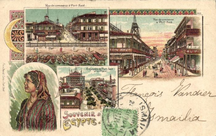 Egypt - Very fine - Incl. Lithographs, types, older and vibrant cards - Postcards (Collection of 57) - 1899-1930