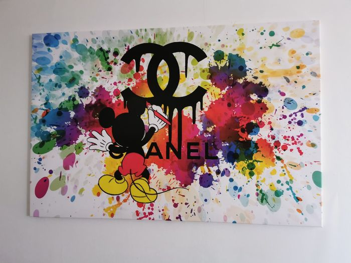 Mickey Color 2020 par DOISY.O - Hand signed - Schilderij