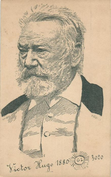 Victor Hugo - Well-known French writer / poet - incl. Caricatures, busts - Postcards (Collection of 62) - 1900-1930