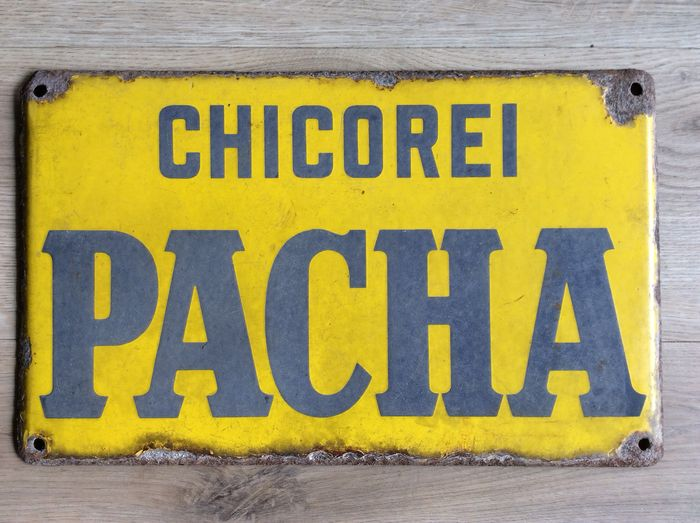 Chicorei Pacha Reclamebord - Emaille