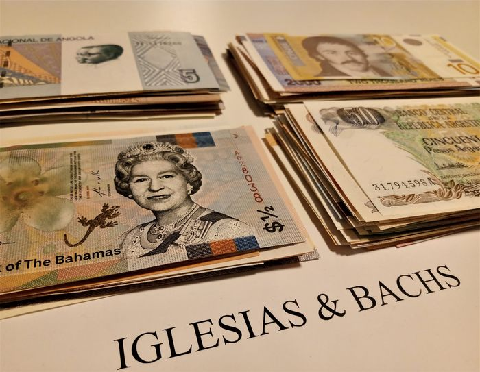 World - 180 different banknotes - Various dates