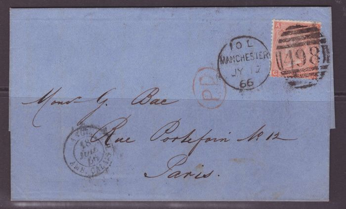 Iso-Britannia 1866/1876 - three letters set - Stanley Gibbons