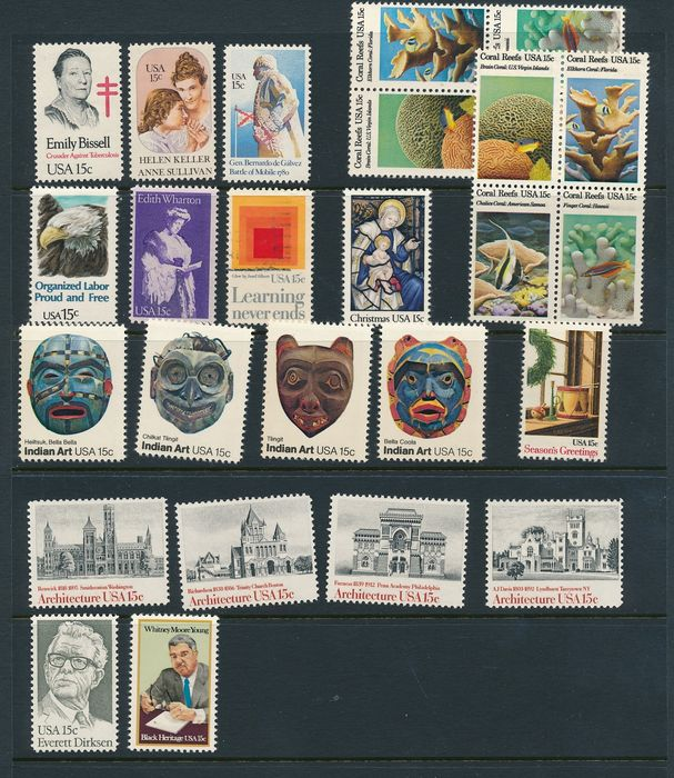 United States of America - Collection of MNH stamps from the USA