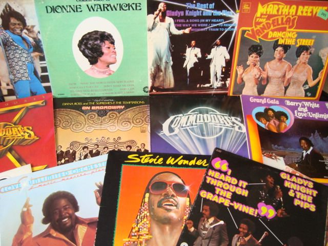 Diana Ross & The Supremes, Stevie Wonder, Barry White, Gladys Knight & The Pips - Lot of 15 Super Soul records - LP's - 1969/1987