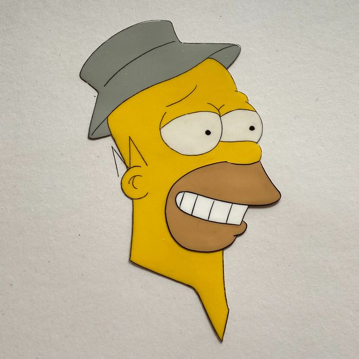 The Simpsons - Homer Simpson (Season 1) Original Hand-Painted Production Cel - Uniek exemplaar