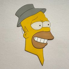 The Simpsons - Homer Simpson (Season 1) Original Hand-Painted Production Cel - Unikat