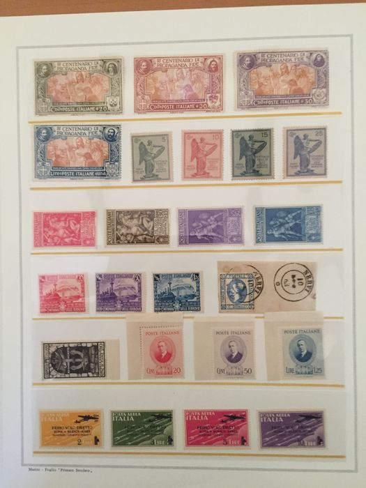 Royaume d'Italie 1863/1941 - Lot of stamps in sets and single pieces, some stamped letters