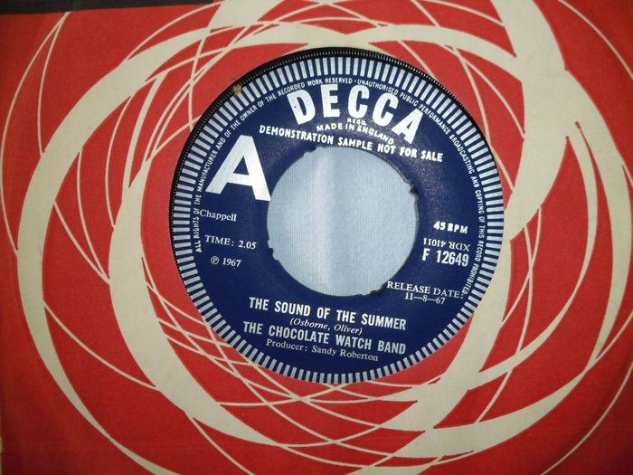 Chocolate Watch Band - The Sound Of The Summer/ The Only One In Sight + French Radiostation Acetate - Multiple titles - 45 rpm Single, Acetate - 1967/1967