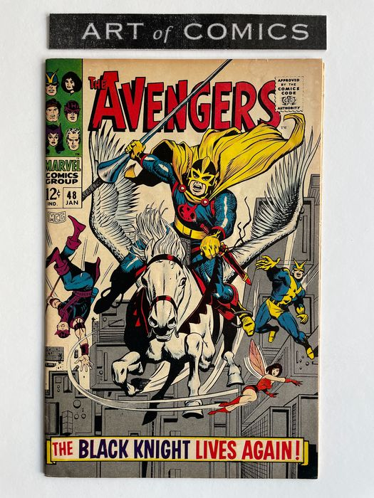 The Avengers #48 - Dane Whitman Becomes The New Black Knight - Magneto, Toad Appearance - Mid Grade!! - Extremely Hot Book!! - Softcover - First edition - (1968)