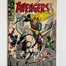 The Avengers #48 - Dane Whitman Becomes The New Black Knight - Magneto, Toad Appearance - Mid Grade!! - Extremely Hot Book!! - Broché - EO - (1968)