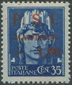 Italië 1945 - Mantua 1.90 on 35 c. value error. - Sassone N. 3A