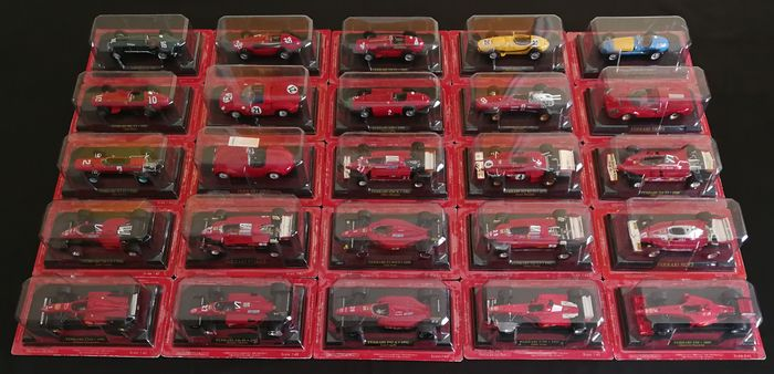 Ferrari official licensed product - 1:43 - 25 x Ferrari's - Ferrari-modelcollecties