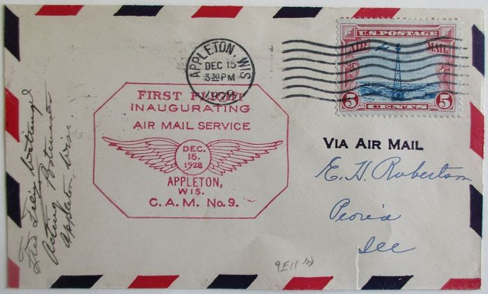 United States of America - First flight cover collection in an album