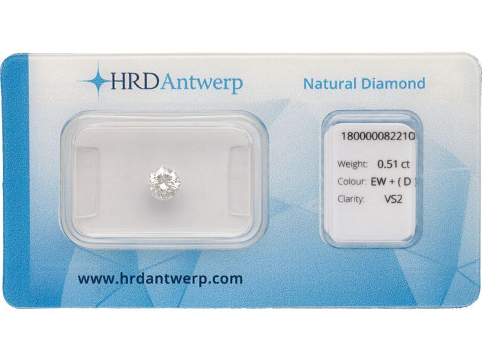 1 pcs Diamant - 0.51 ct - Briljant - G - VS2 ***No Reserve***