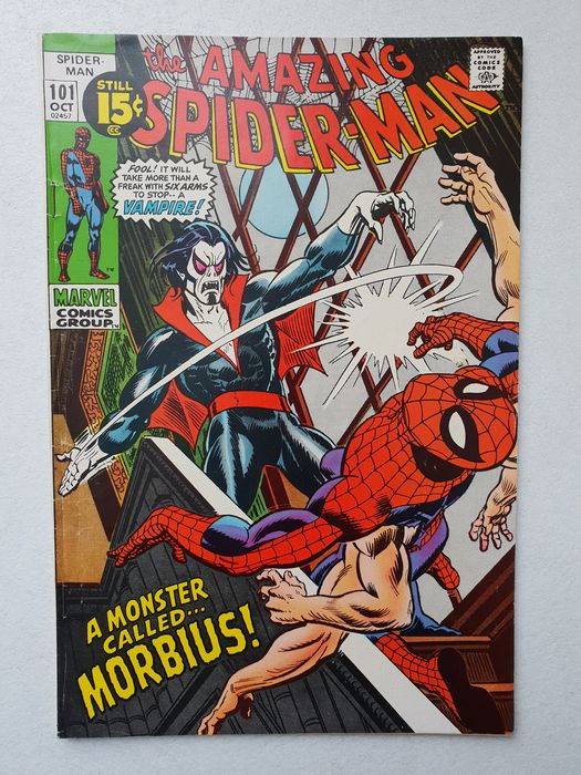 The Amazing Spider-man 101 - 1st appearance Morbius. Mid-grade copy, very nice - (1971)