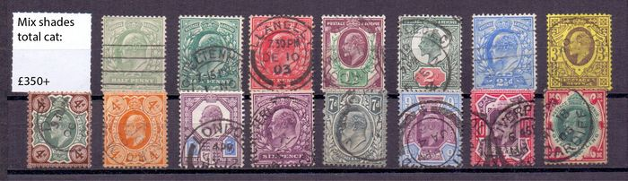 Großbritannien 1901/1936 - Edward VII up to £1 GREEN - George V to SEAHORSES + extra