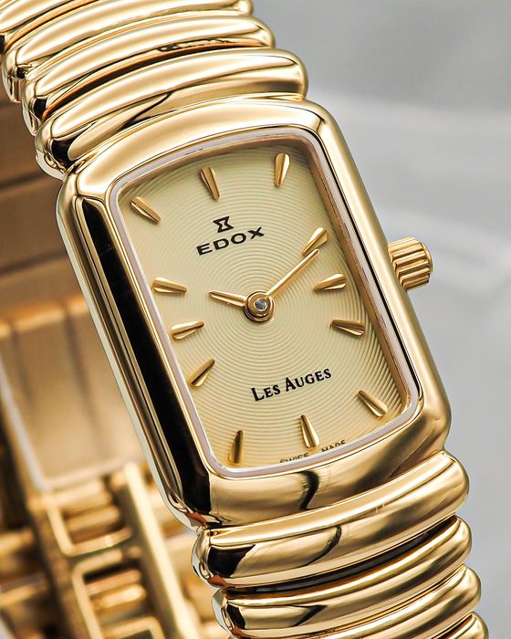 """Edox - Les Auges - """"NO RESERVE PRICE"""" - 21149 37JP AID - N.O.S. - Donna - 2000-2010"""