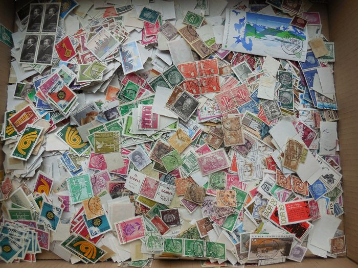 Monde - Batch with approx. 30,000 stamps