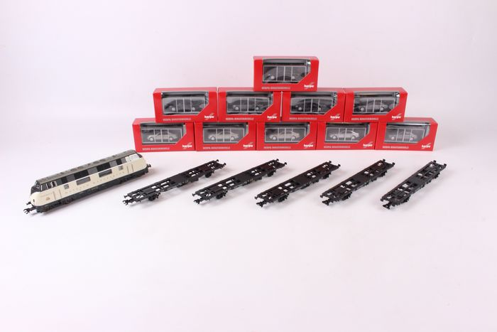 Herpa, Märklin H0 - (26522) 150750 - Train set - Maybach car transport train 'classic of the future' - DB
