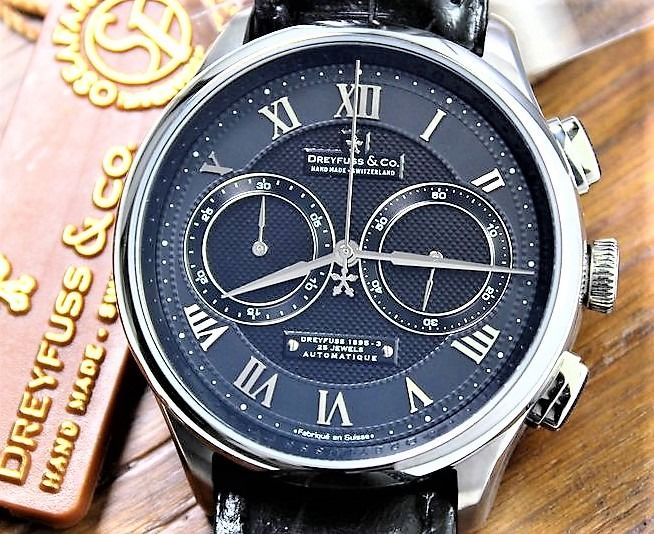 """Dreyfuss & Co. - """"NO RESERVE PRICE"""" - Automatic Chronograph 25 Jewels New & Boxed - Uomo - 2011-presente"""