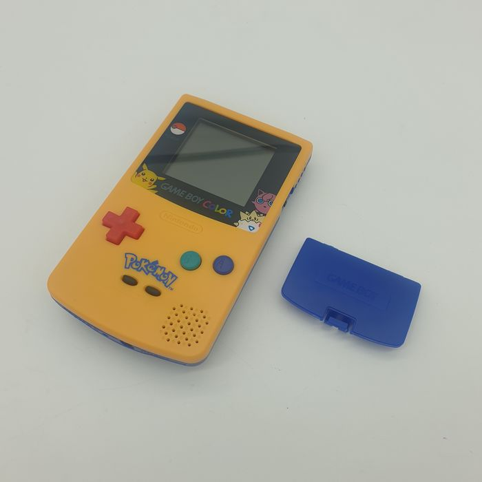 Nintendo Gameboy Color GBC Yellow Blue Pokemon Pikachu/Jigglypuff Edition with unique Gameboy Color - Console - Volledig gerenoveerd