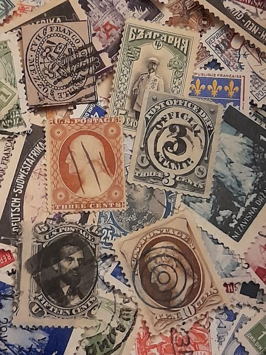 Welt 1849 - Old and very old stamps over 10,000 stamps
