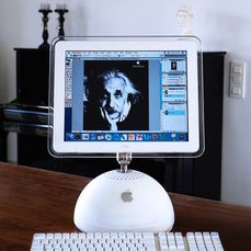 "Apple - Pacchetto ""Design"" DUAL BOOT iMac G4 Tournesol - con ""tastiera e mouse Pro"" ICE WHITE - Con scatola sostitutiva"