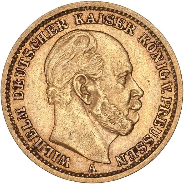 Germany, Prussia. 20 Mark 1875 A Wilhelm I