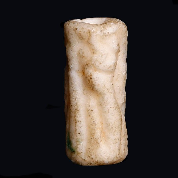 Near Eastern Alabaster Cylindrical Stamp Seal