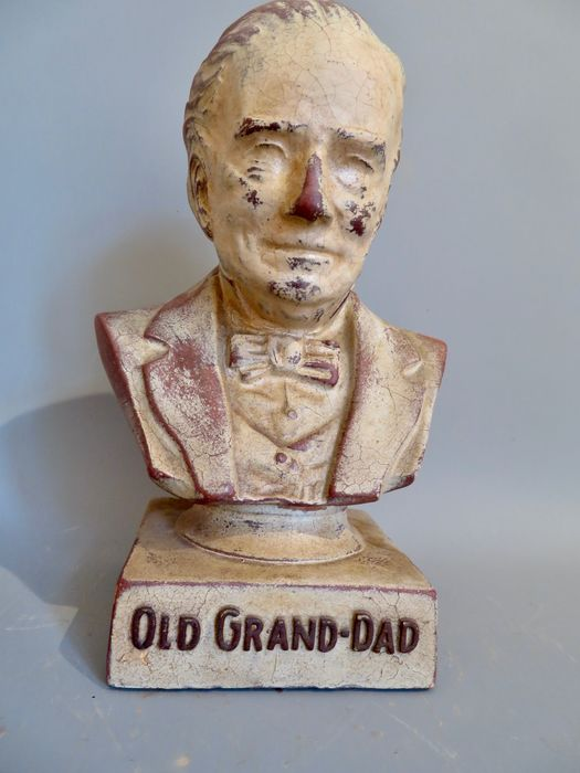Old Grand Dad whisky - reclame beeldje (1) - latex