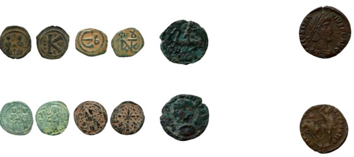 Byzantine Empire, Roman Empire. Lot of 6 Æ coins,  incl.: Thrace, Deultum. Gordian III; and Constantius II (AD 337-361)