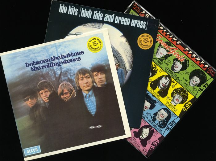 Rolling Stones - Lot of 3 Dutch albums on coloured wax incl. Some Girls, Big Hits & Between the buttons - Multiple titles - LP Album - 1977/1978
