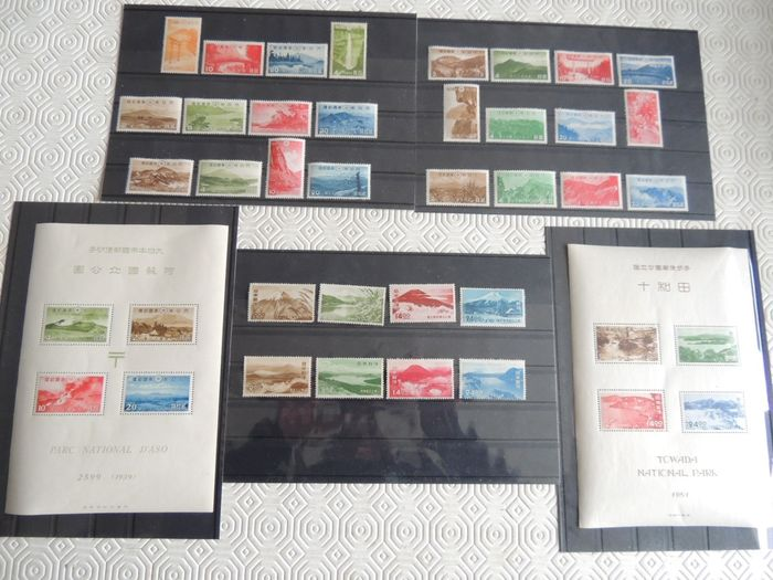 Japan 1938/1950 - Selection of National Parks series between - Yvert 279/82 & 448/51