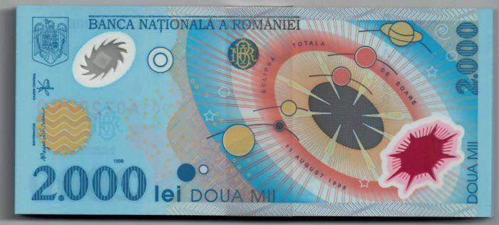 Roemenië - 100 x 2.000 lei plus 100 covers (1x for each note) 11th August, 1999 - Pick 111b