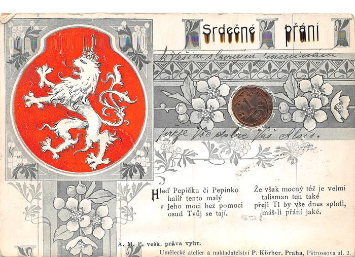 Czech Republic - Very varied, including 1 with coin and relief cards - Postcards (67) - 1904