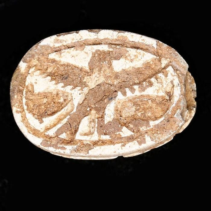 Ancient Egyptian Steatite Scarab from the Mustaki Collection