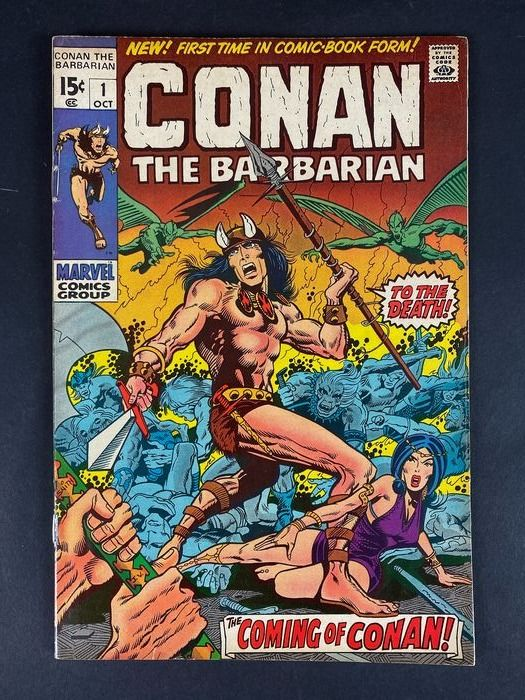Conan the Barbarian #1 - Vol 1 - (Restored Staples) - Stapled - First edition - (1970)