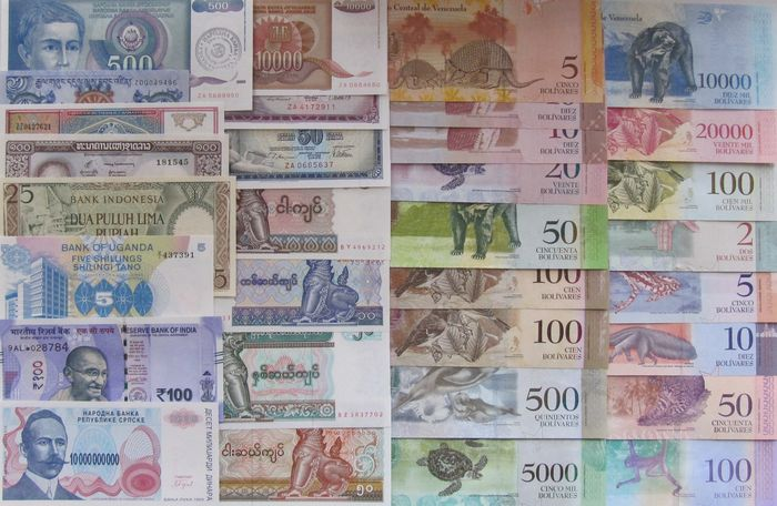 Wereld 32 banknotes - all replacements - all different - various dates