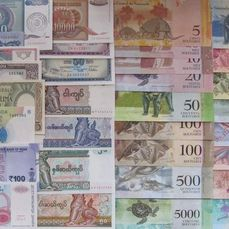 Monde 32 banknotes - all replacements - all different - various dates
