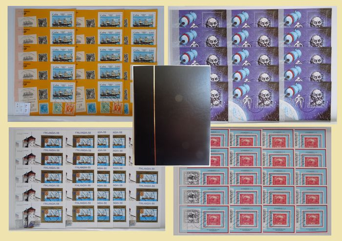 Cuba 1983/1995 - Extensive stock of 1035 blocks in thick stock book.