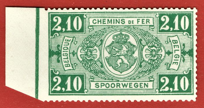 Belgien 1923 - Railways VARIETY imperforate at left, MNH rare - OBP / COB TR151 **