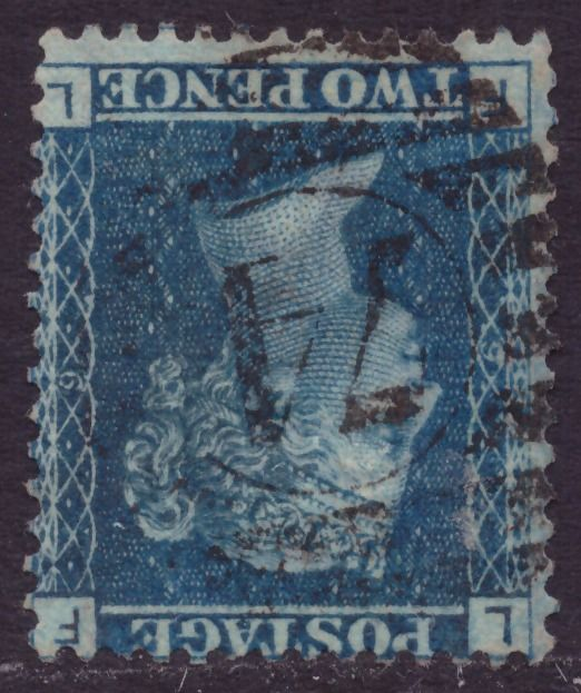 Iso-Britannia 1861 - 2d blue watermark II inverted - Stanley Gibbons 45/G2d plate 9