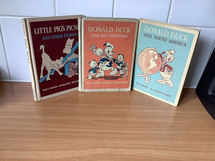 Walt Disney, M.Wise Brown, F.Brumbaugh ,M.Palmer - Donald Duck sees South America, DD and his nephews, Little pages picnic - 1940/1945