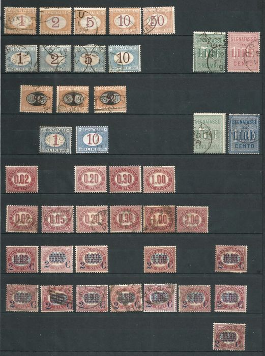 Royaume d'Italie 1870/1903 - Service stamps, parcels, postage-due stamps, mint and used