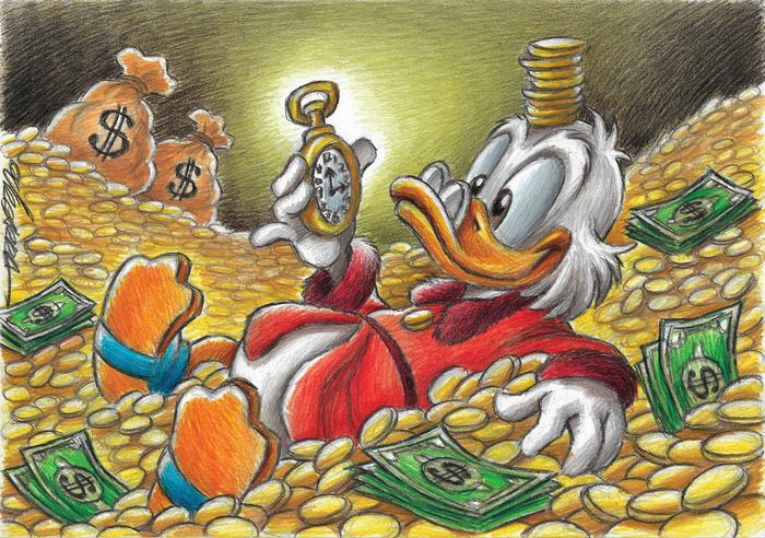 $crooge McDuck Time Rich - Original Drawing - Joan Vizcarra Signed