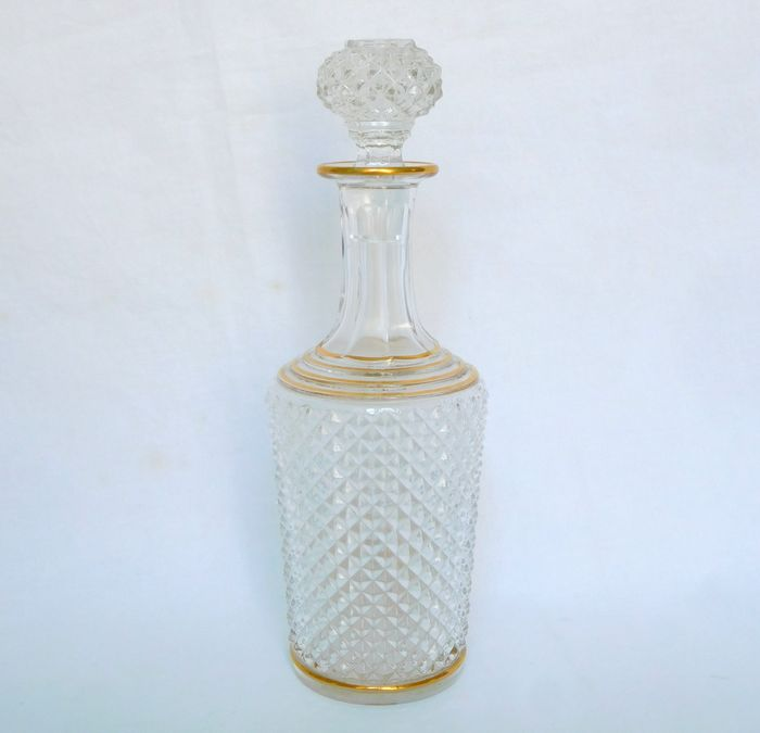Baccarat - Marie Louise model liqueur carafe gilded with fine gold - Crystal